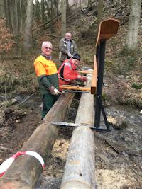 Bau der Überquerungdes Sosberger Bachs