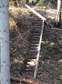 Aufstieg zur Sosberger Seite nach de neuen Brücke
