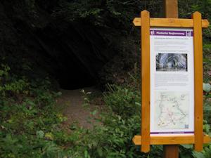 Tafel an der Bucher Schiefergrube im Wohnrother Tal