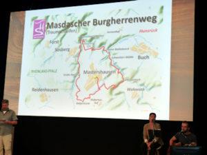 Masdascher Burgherrenweg auf der TourNatur Wandermesse & Trekkingmesse in Düsseldorf